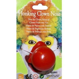 Red Honking Clown Nose - Make It Up Costumes
