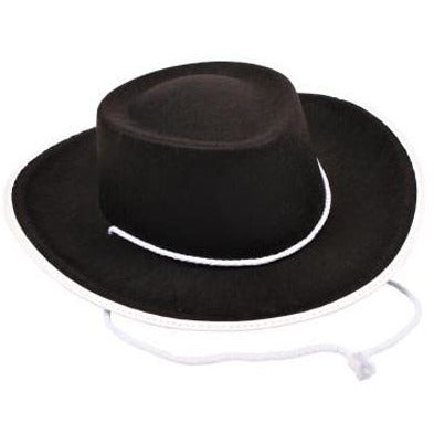 Kid's Black Cowboy Hat - Make It Up Costumes