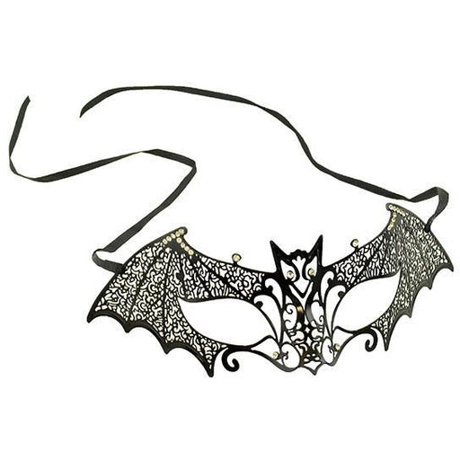 Black Laser-Cut Venetian Bat Mask - Make It Up Costumes