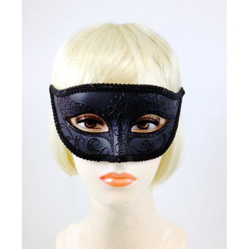 Black Venetian Eye Mask - Make It Up Costumes