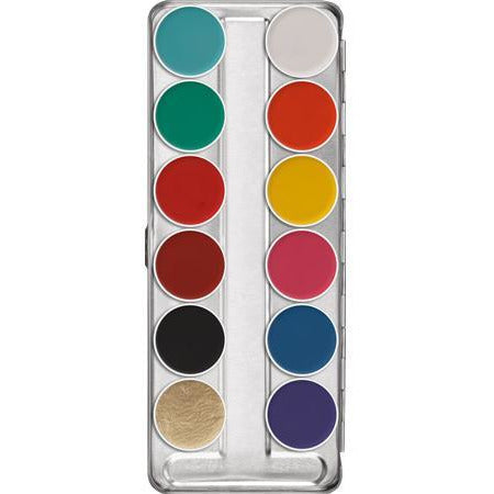 Kryolan Aquacolor Face and Body Paint Makeup - 12 Color Palette - Make It Up Costumes