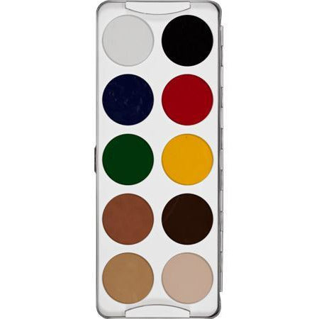 Kryolan Body Illustration Make-Up Color Palette-10 colors - Make It Up Costumes