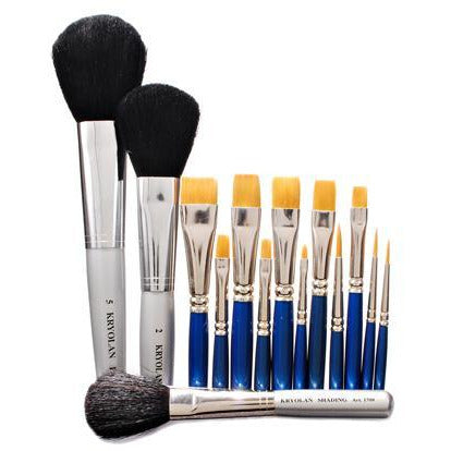 Kryolan's Torey Professional Makeup Brushes - Make It Up Costumes