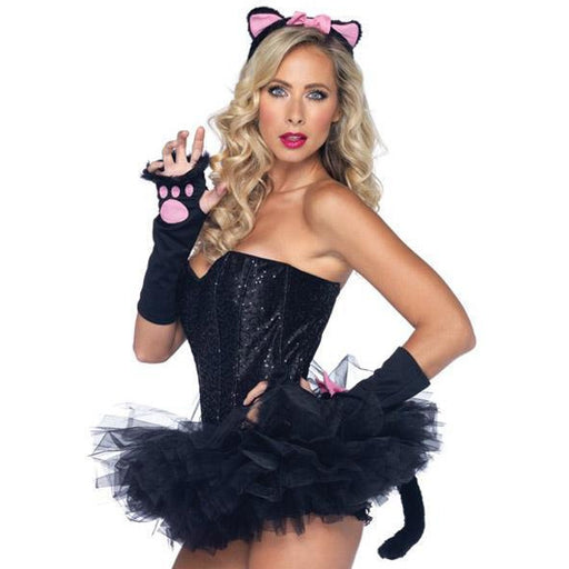 Pretty Kitty Ears, Tail and Gloves Set - Make It Up Costumes