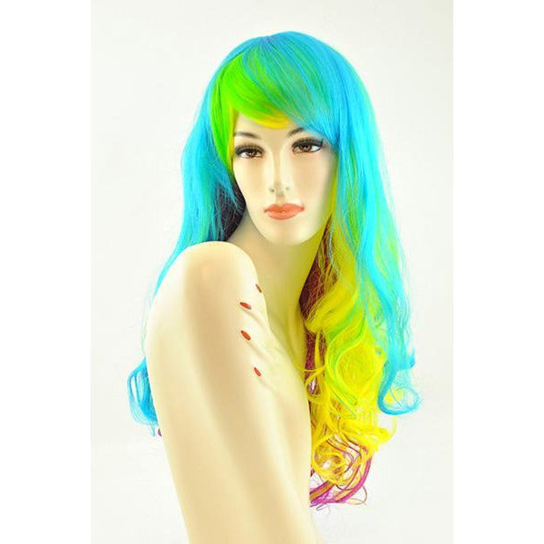 Prism Long Wavy Rainbow Wig - Make It Up Costumes