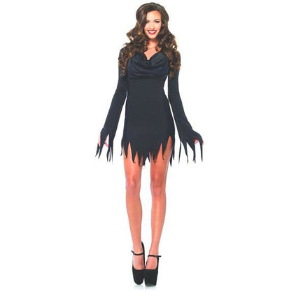 Tattered Black Costume Dress - Make It Up Costumes