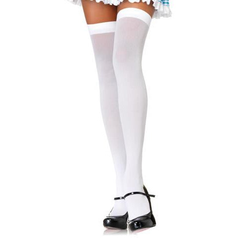 Opaque Thigh Highs in black or white - Make It Up Costumes