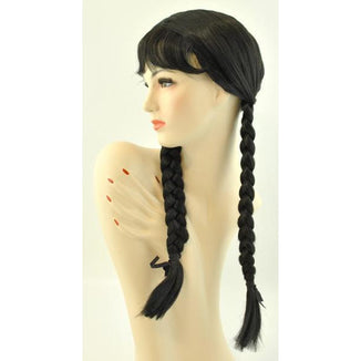 Women's Braided Wig-Black - Make It Up Costumes