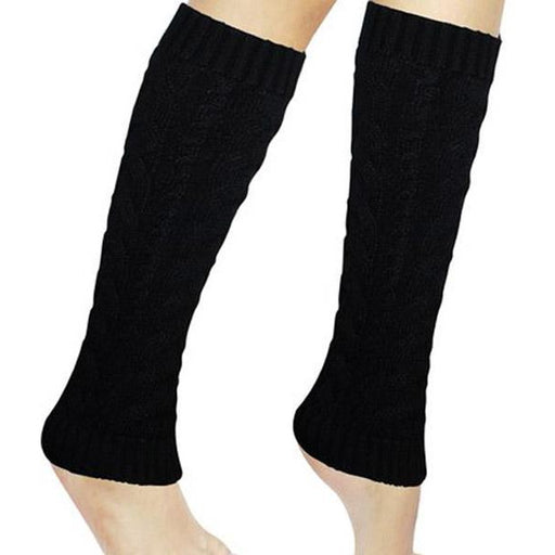 Black Knit Leg Warmers - Make It Up Costumes