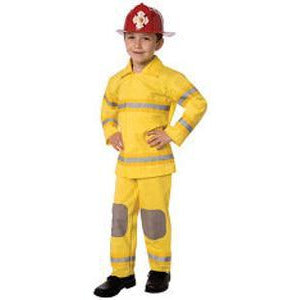 Kid's Firefighter Costume with Red Helmet - Make It Up Costumes