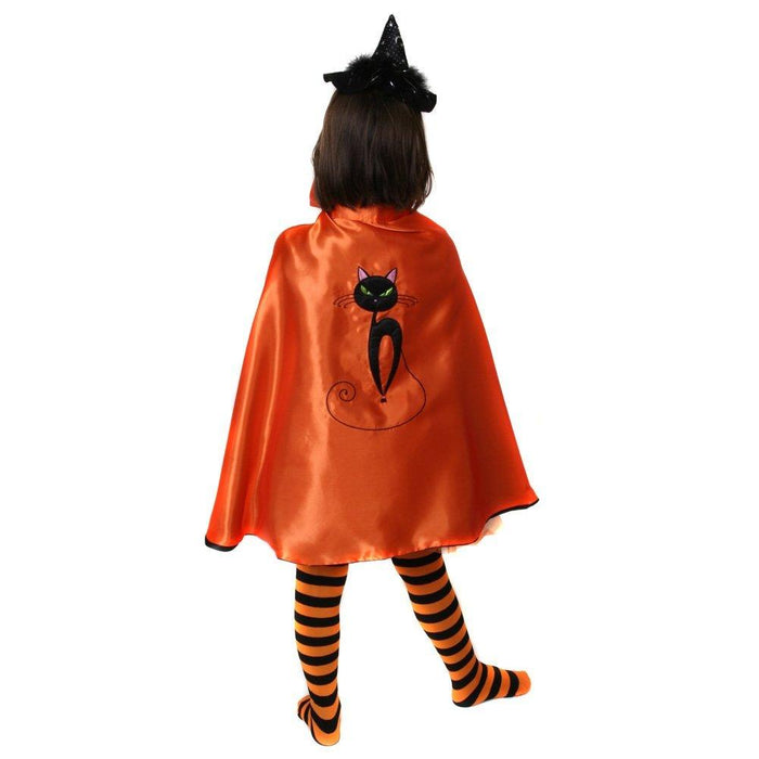 Spooky Black Cat Witch Costume Cape - Reversible - Make It Up Costumes