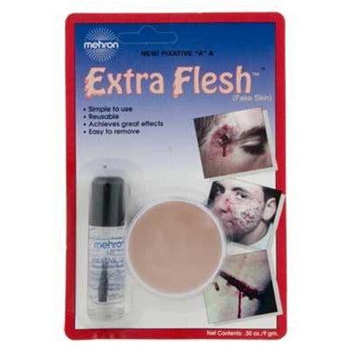 "Mehron Extra Flesh Special Effects Wound Makeup with Fixative ""A"" - Make It Up Costumes"