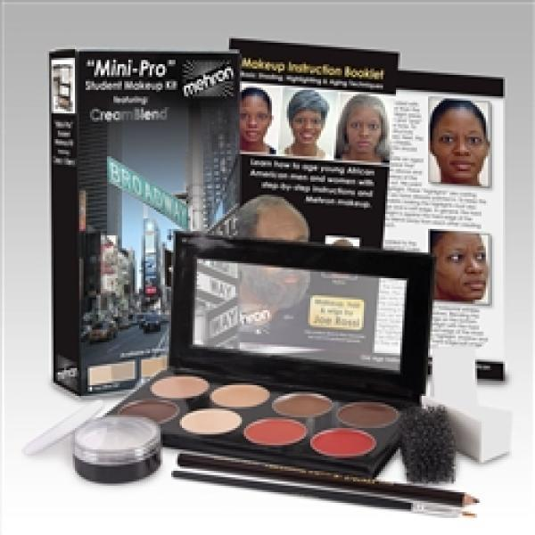 Mehron Mini-Pro Theatrical Makeup Kit for Students - Make It Up Costumes