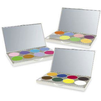 Mehron Paradise AQ Face Paint Makeup Palettes - 8 Colors - Make It Up Costumes
