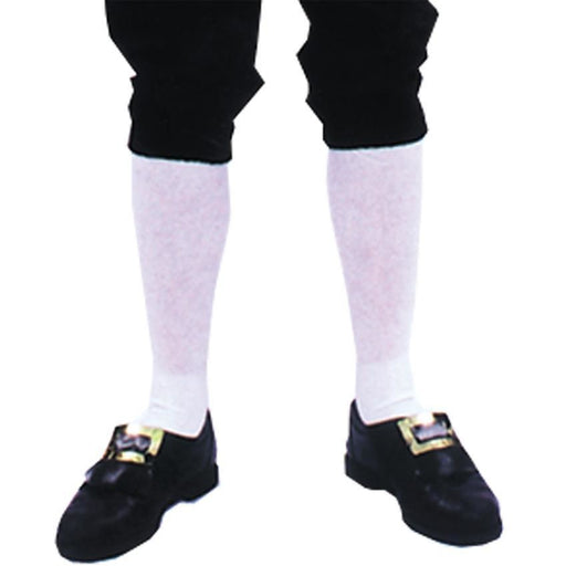 Men's White Colonial Stockings - Make It Up Costumes