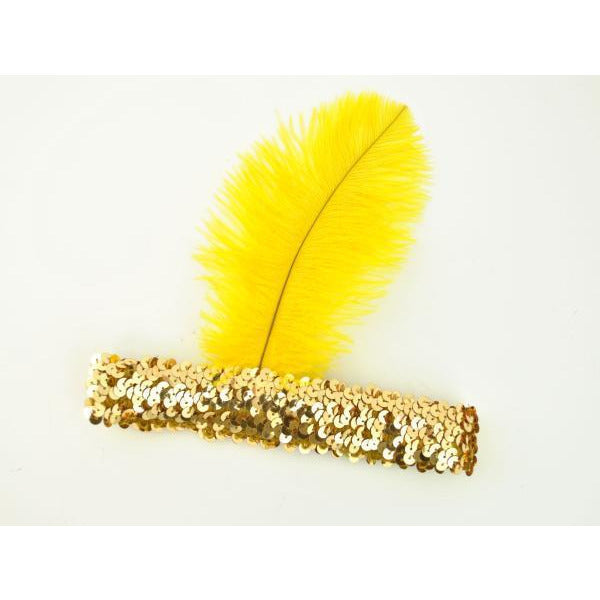 1920's Flapper Headband with Feather - Make It Up Costumes