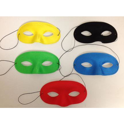 Satin Half Masks - Make It Up Costumes