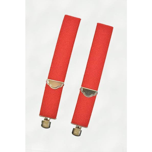 Green and Red Clip On Suspenders - Make It Up Costumes
