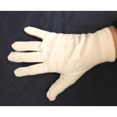 Men's White Dress Gloves with Snap - Make It Up Costumes