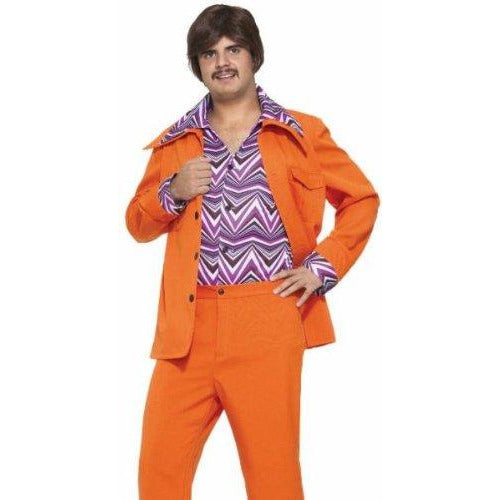 70's Orange Leisure Suit - Make It Up Costumes