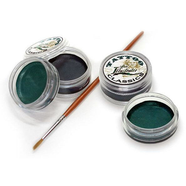 Skin Illustrator Temporary Tattoo Paint - Aged Black and Green - Make It Up Costumes