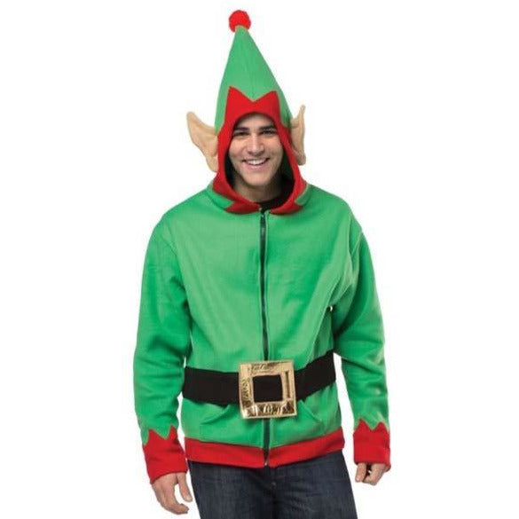 Adult Elf Hoodie - Make It Up Costumes