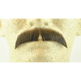 Basic Fake Mustache - 100% Human Hair - Make It Up Costumes