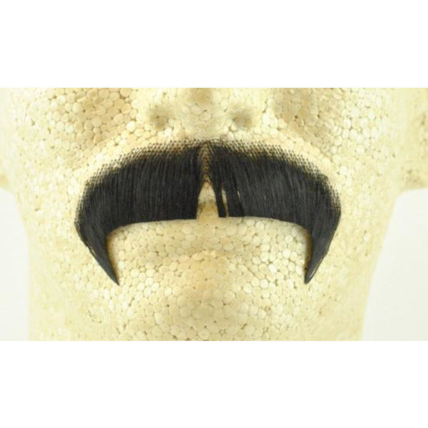 Light Grey Basic Character Moustache 100/% Human Hair Costume Accessory