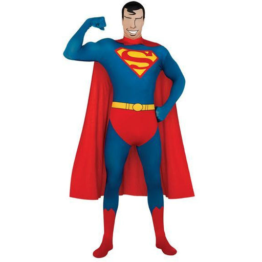 2nd Skin Adult Superman Costume - Make It Up Costumes