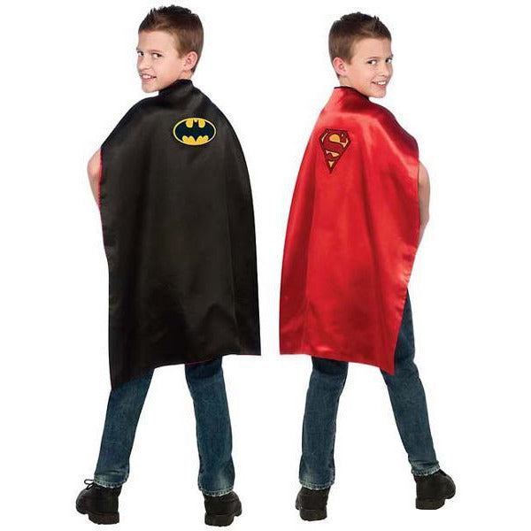 Batman and Superman Cape for Kids - Reversible - Make It Up Costumes