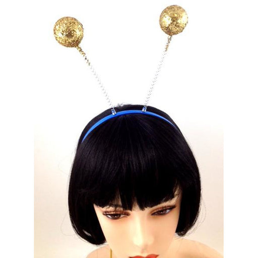 Bee/Martian Antenna Headband in gold or silver - Make It Up Costumes