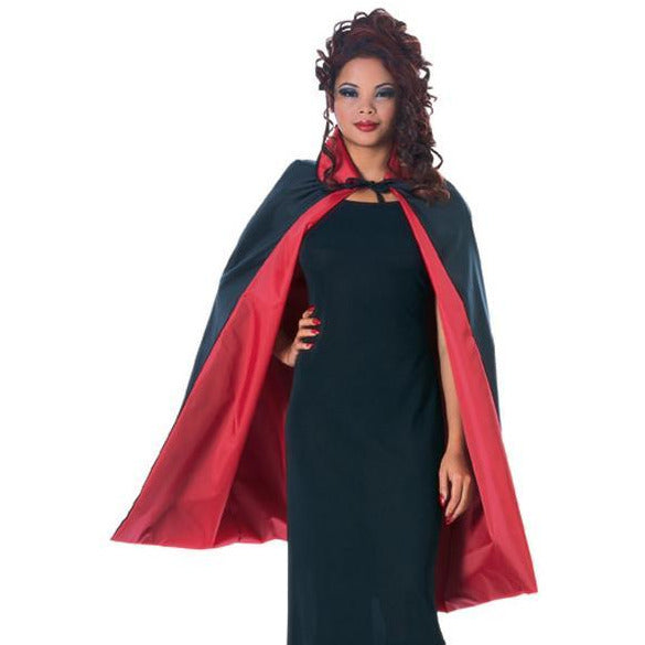 Reversible Taffeta Vampire Cape - Make It Up Costumes