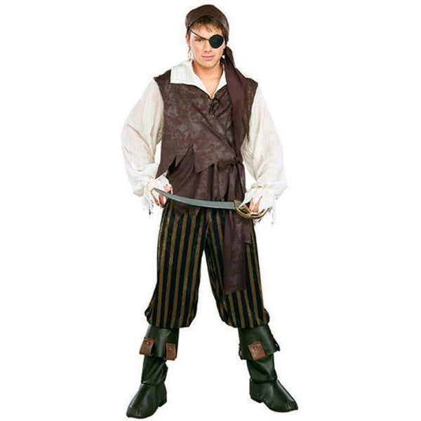 Men's Caribbean Pirate Costume - Make It Up Costumes