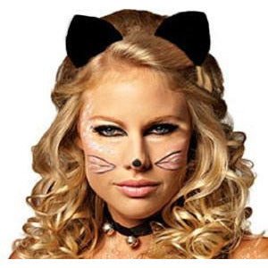 Clip On Costume Cat Ears - Make It Up Costumes