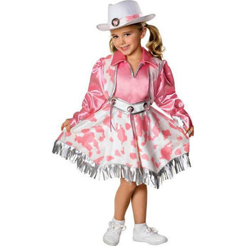 Girl's Cowgirl Costume - Pink - Make It Up Costumes