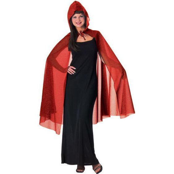 Glitter Costume Cape with Hood - Make It Up Costumes