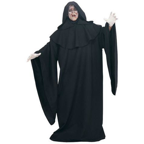 Black Hooded Grim Reaper Costume Robe - Make It Up Costumes