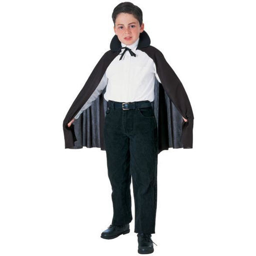 Kid's Black Cape with Collar - Make It Up Costumes