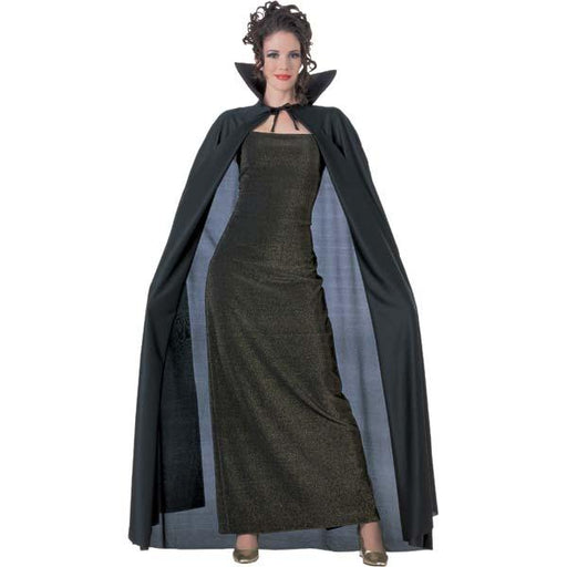 Full Length Black Vampire Cape - Make It Up Costumes
