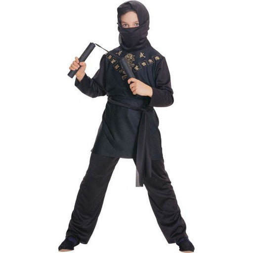 Classic Black Ninja Costume for Kids - Make It Up Costumes