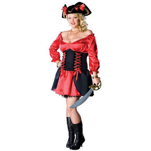 Women's Plus Size Pirate Wench Costume - Make It Up Costumes