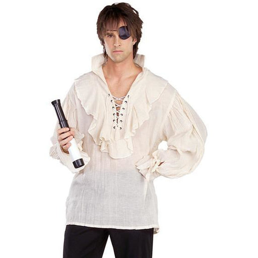 White Gauze Pirate Shirt - Make It Up Costumes