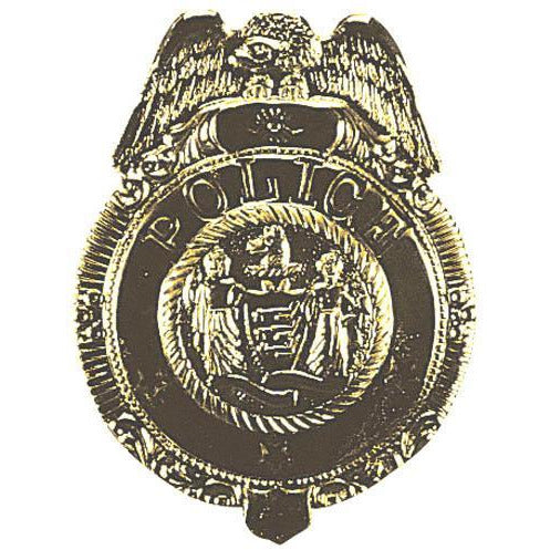 Gold Police Badge - Make It Up Costumes