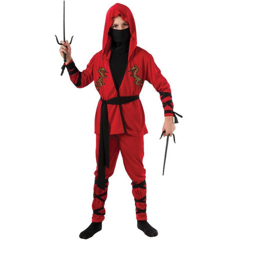 Boy's Red Ninja Costume - Make It Up Costumes