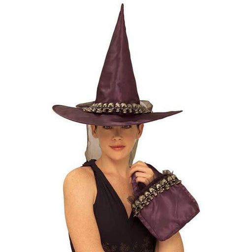 Skull Witch Hat with Purse Set - Make It Up Costumes