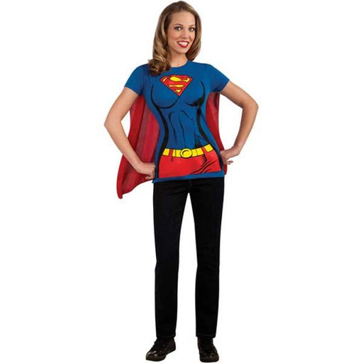 Supergirl Shirt with Cape - Make It Up Costumes