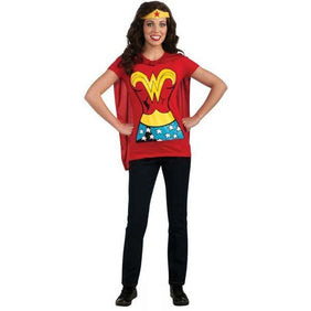 Wonder Woman Shirt with Cape - Make It Up Costumes