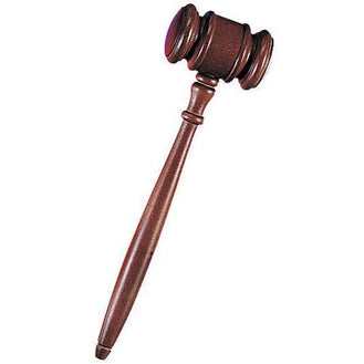 Wooden Judge Gavel - Make It Up Costumes