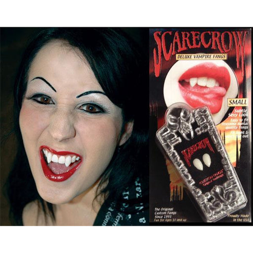 Scarecrow Fake Deluxe Vampire Fangs - Small - Make It Up Costumes