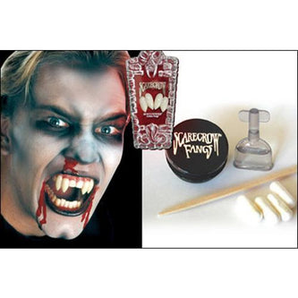 Scarecrow Fake Deluxe Vampire Fangs - Shredders - Make It Up Costumes